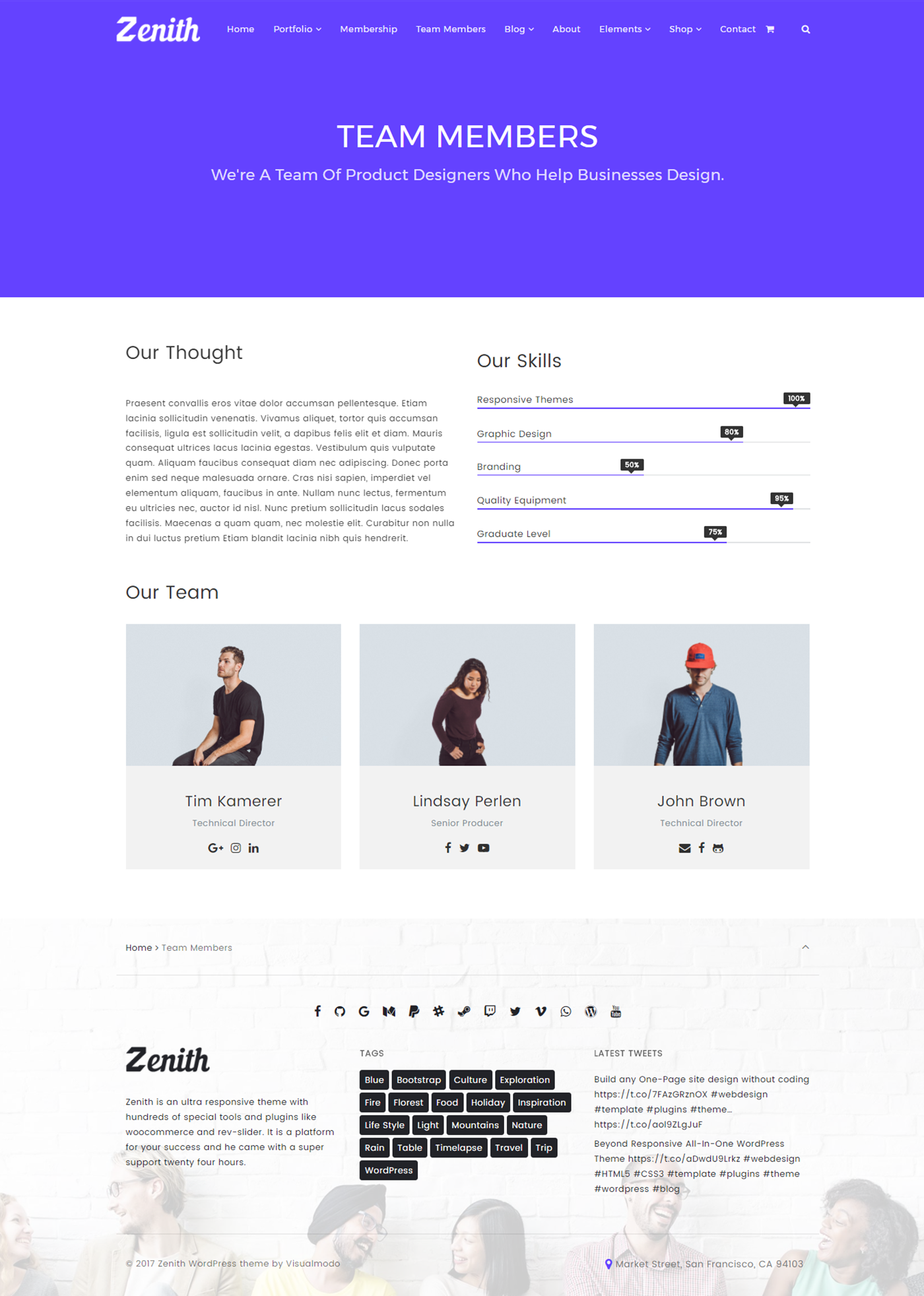 Visual poser WordPress Zenith WordPress Theme