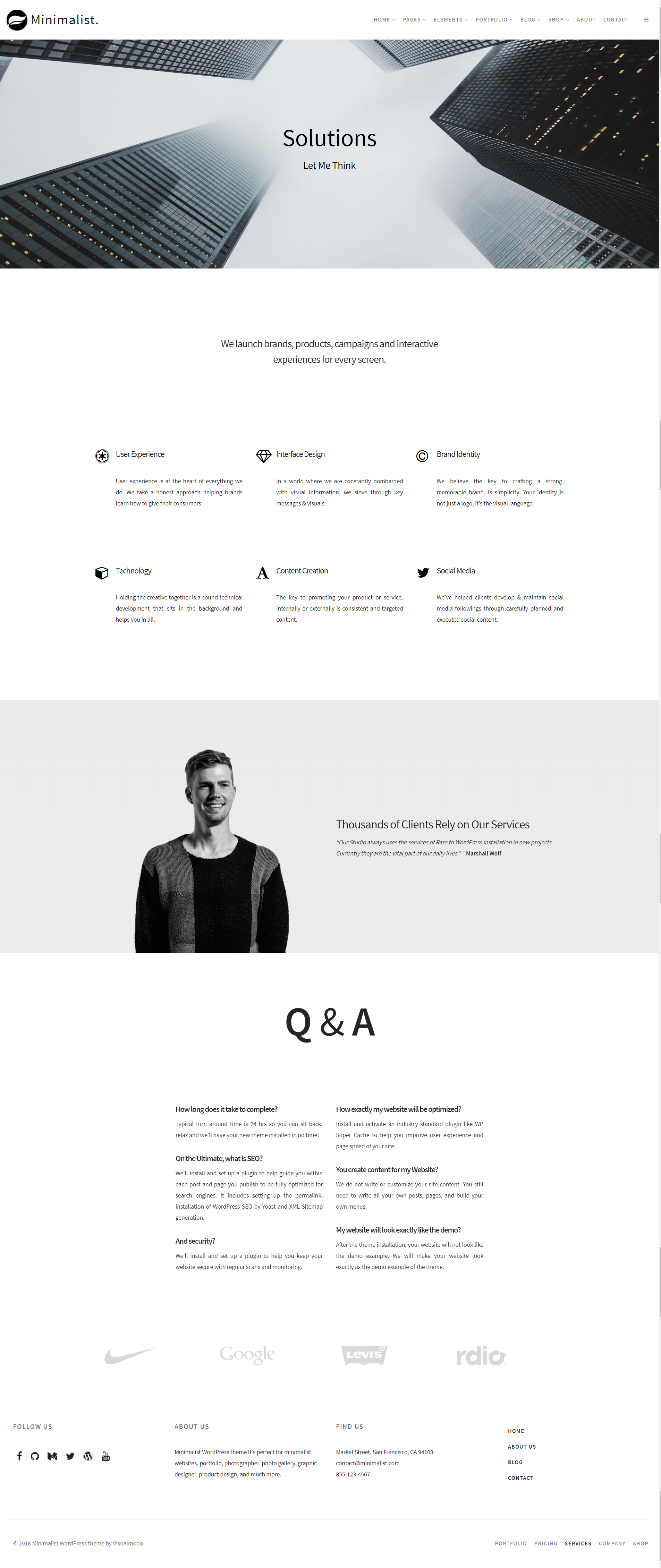 Minimalist - Creative Clean WordPress Theme