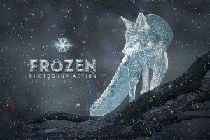 Frozen Ice Photo Effect Photoshop