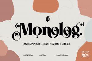 Monolog typeface Font