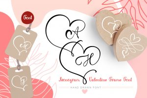 Monogram-Heart-Flourish-Font