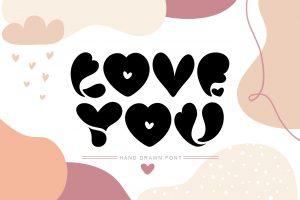 Love-You-Hand-Drawn-Valentine-Font